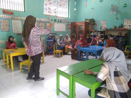 Sosialisasi Jarimatika di TK Pertiwi 12