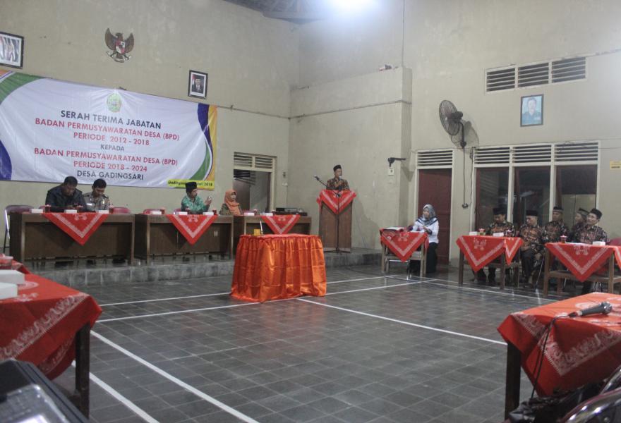 Serah Terima Jabatan Bpd Periode 2012 2018 Kepada Bpd
