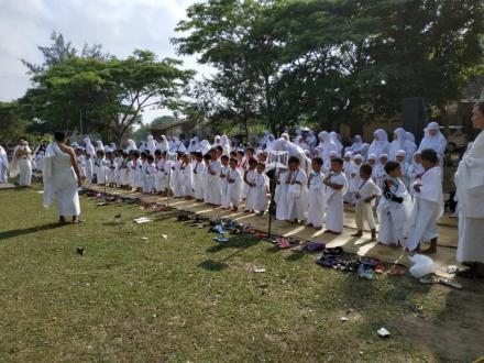 Latihan Manasik Haji TK ABA se Kecamatan Sanden
