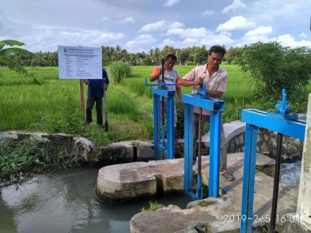 Pengecekan Pembangunan Pintu Air